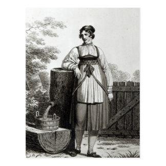 Chica campesino de Tirollian, 1817 Postales