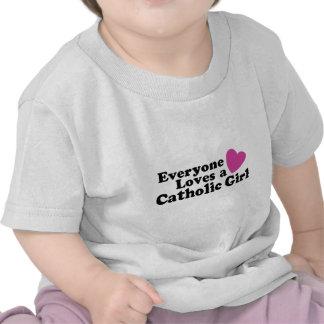 Chica católico camiseta