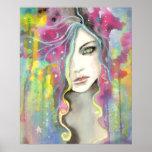 Chica celestial de Vision en el arte de la fantasí Impresiones