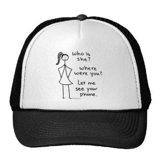 Chica celoso gorras de camionero