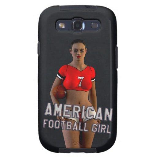 Chica Chablis del fútbol americano Galaxy S3 Carcasa