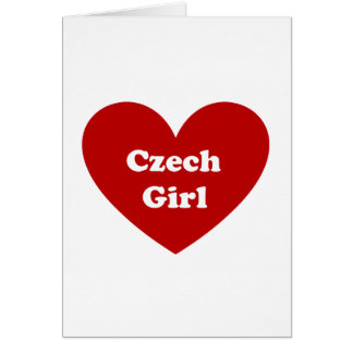 chica checo tarjeta de felicitación