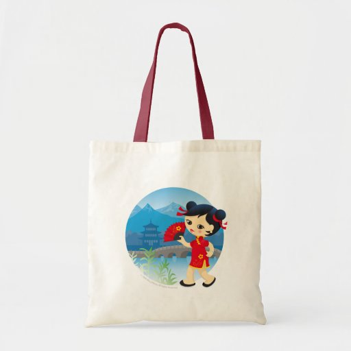 Chica chino bolsa tela barata