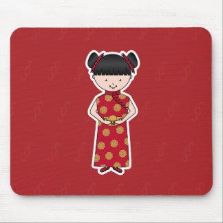 Chica chino Mousepad del Año Nuevo