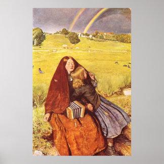 Chica ciego de John Everett Millais Póster