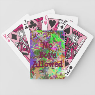 Chica colorido de Camo de la diversión del color d Barajas De Cartas