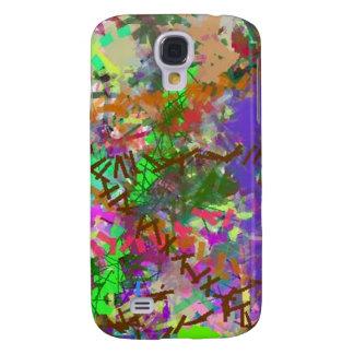 Chica colorido de Camo de la diversión del color d Funda Para Galaxy S4
