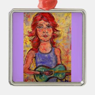 chica colorido de la guitarra ornamento para arbol de navidad