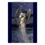 Chica con ángel - Wilhelm Kotarbinski Tarjeta De Felicitación