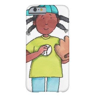 Chica con béisbol y el guante funda barely there iPhone 6