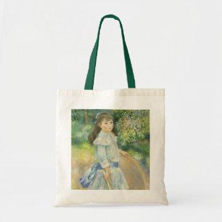 Chica con el aro de Pedro Renoir, bella arte del Bolsa Tela Barata