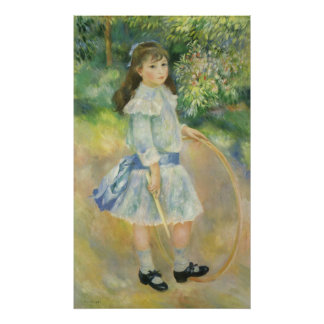 Chica con el aro de Pedro Renoir, bella arte del Póster