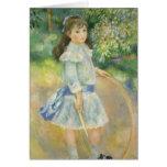 Chica con el aro, Renoir, arte del impresionismo Tarjetas