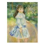 Chica con el aro, Renoir, arte del impresionismo Tarjeta Postal