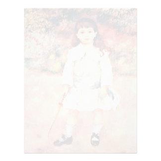 Chica con el azote de Pierre-Auguste Renoir Membrete Personalizado