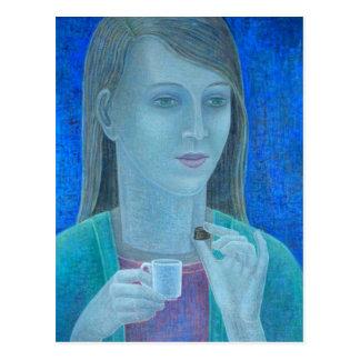 Chica con el chocolate 2011 postal