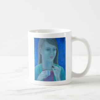 Chica con el chocolate 2011 taza básica blanca