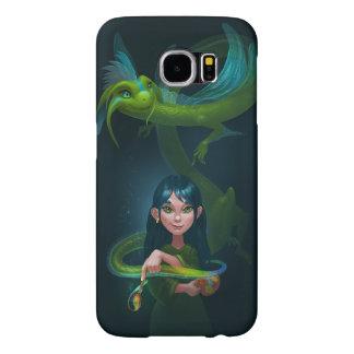Chica con el dragón fundas samsung galaxy s6