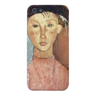 Chica con el gorra de Amedeo Modigliani iPhone 5 Cobertura