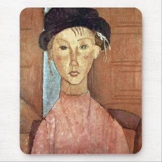 Chica con el gorra de Amedeo Modigliani Alfombrilla De Ratón