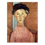 Chica con el gorra de Amedeo Modigliani Tarjetas Postales