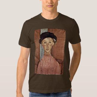 Chica con el gorra de Modigliani Amedeo Playeras