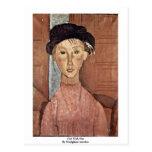 Chica con el gorra de Modigliani Amedeo Postal