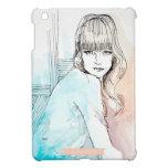 Chica con el iPad del ejemplo de la moda de las ex iPad Mini Protector
