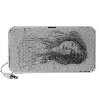 Chica con el pelo largo de Gustavo Klimt Notebook Altavoz