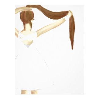 Chica con el pelo membretes personalizados