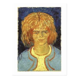 Chica con el pelo rizado, Vincent van Gogh Tarjeta Postal