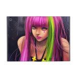 Chica con el pelo rosado iPad mini protector