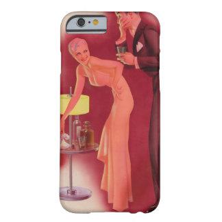 Chica con el Pin del caballero encima del arte Funda Para iPhone 6 Barely There