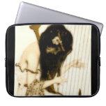 Chica con la arpa manga portátil
