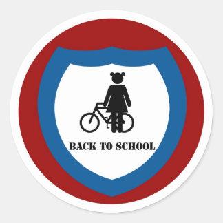 Chica con la bici - pegatina