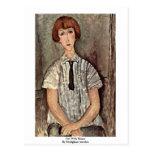 Chica con la blusa de Modigliani Amedeo Postales