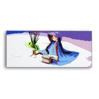 Chica con la capa azul