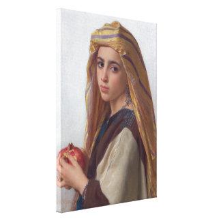 Chica con la granada por Bouguereau Lona Envuelta Para Galerias