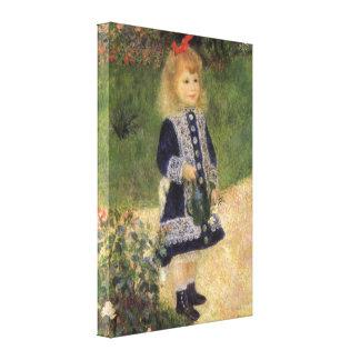 Chica con la regadera, Renoir, arte del Impresiones En Lona