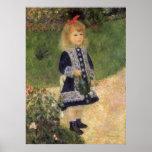 Chica con la regadera, Renoir, arte del Póster