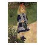 Chica con la regadera, Renoir, arte del Tarjeta De Felicitación