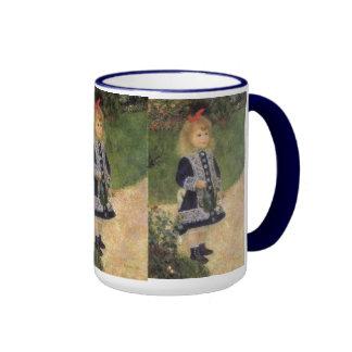 Chica con la regadera, Renoir, arte del Taza A Dos Colores