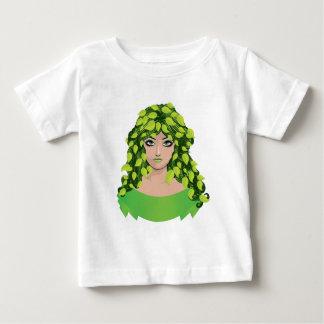 Chica con las hojas verdes playera de bebé