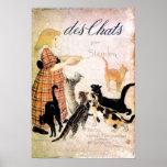 Chica con los gatos, Alejandro Steinlen Póster
