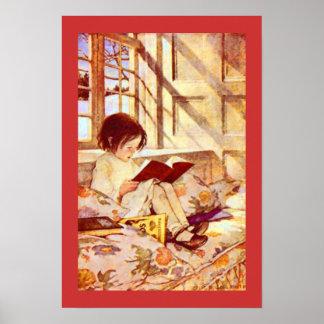 Chica con los libros de niños, Jessie Willcox Smit Póster