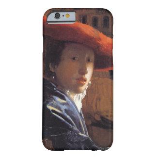 Chica con Red Hat, c.1665 (aceite en el panel) Funda De iPhone 6 Barely There