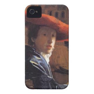 Chica con Red Hat, c.1665 (aceite en el panel) Case-Mate iPhone 4 Cárcasas