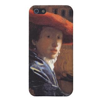 Chica con Red Hat, c.1665 (aceite en el panel) iPhone 5 Funda