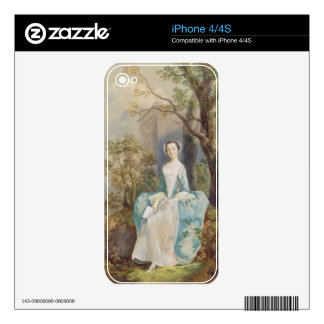 Chica con un libro asentado en un parque, c.1750 ( iPhone 4S skin
