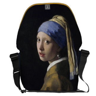 Chica con un pendiente de la perla de Juan Vermeer Bolsas De Mensajería